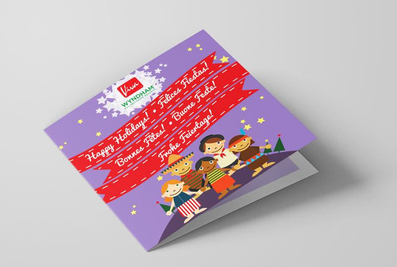 Tarjeta de navidad ilustrada